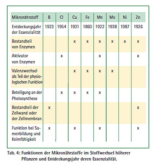 Funktionen von Mikronaehrstoffen