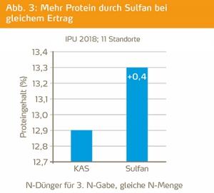 Mehr Protein durch Sulfan bei gleichem Ertrag